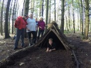 Shelter building - working as a team to keep their team dry
