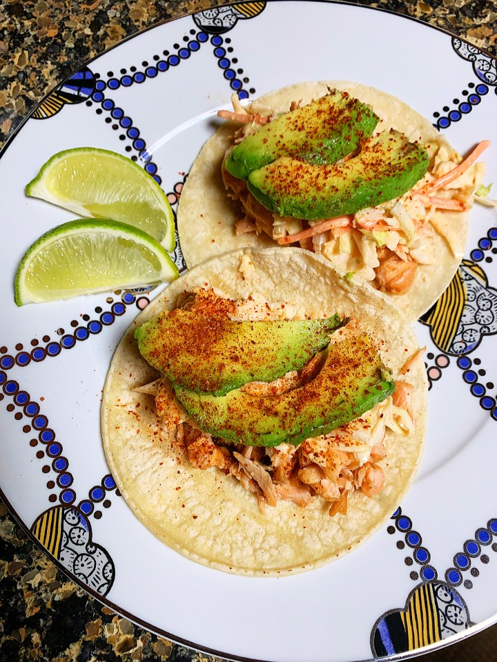 Grilled Asian Salmon Tacos