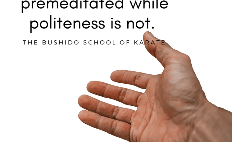 Bushido Karate quote