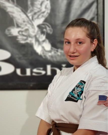 teenage karate student