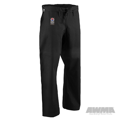 black karate pants