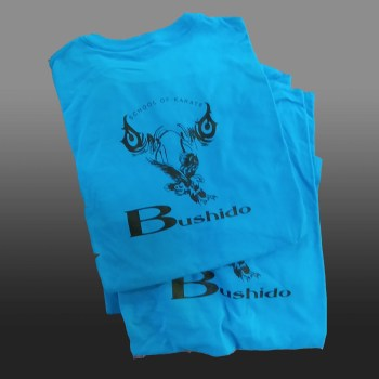 bushido karate logo on tshirt