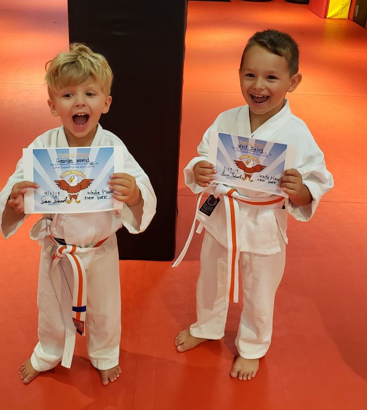 Little Eagles martial arts graduation