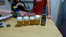 Belgian beers lining up!