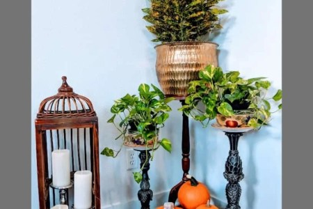 DIY: Candle Stands Turned Into Planters
