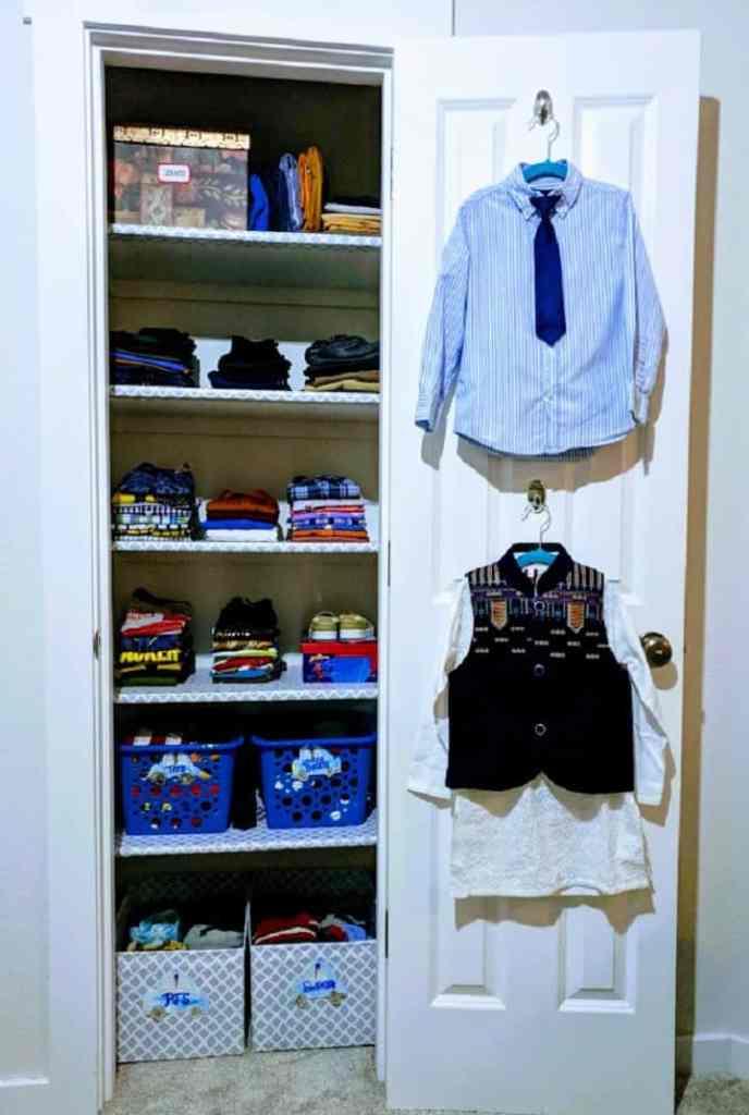 boys bedroom closet