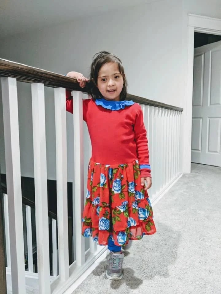 Zoha wearing recycled clothing