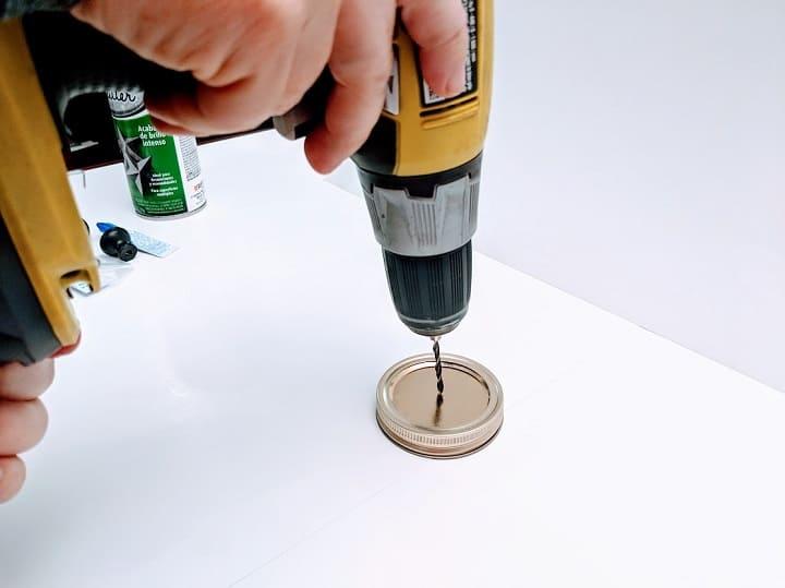 DIY mason jar organizer 9