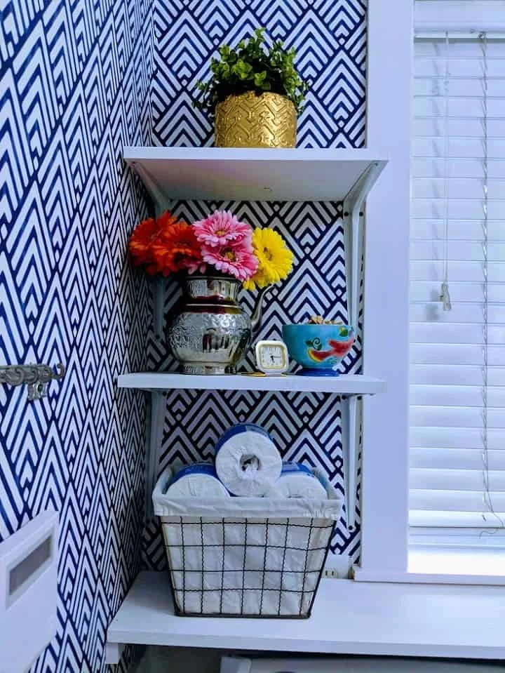 Shelving in the laundry room
