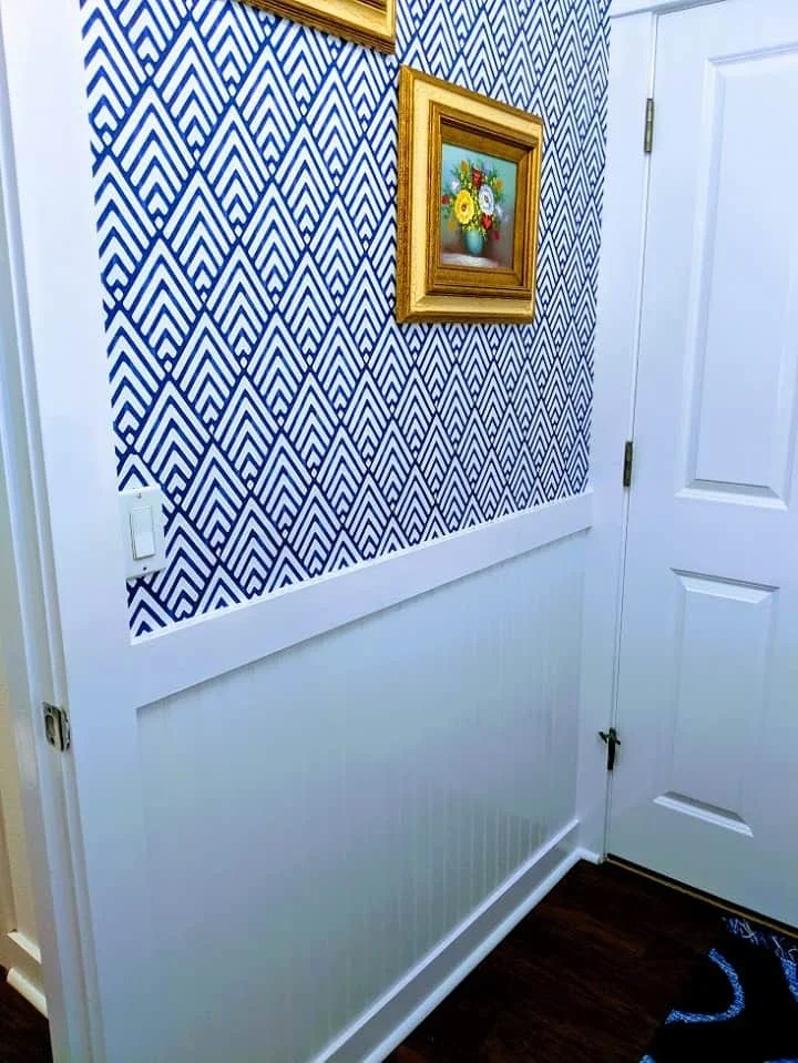 laundry room wainscoting