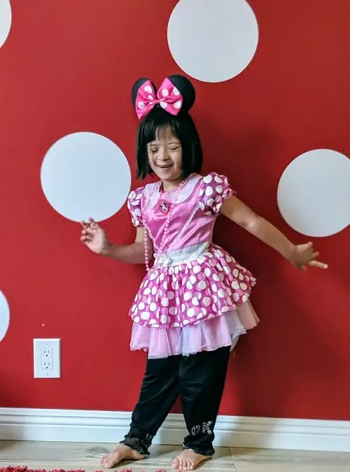 Minnie mouse costume for little girls