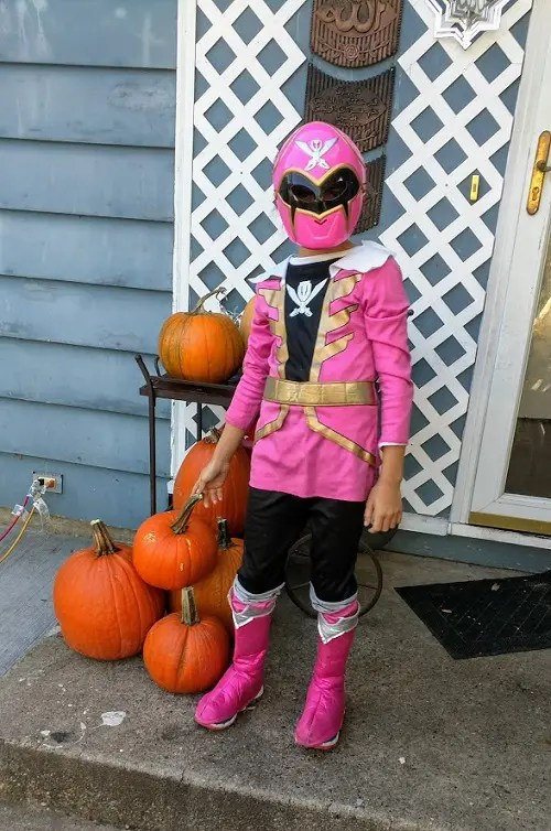 Pink power ranger Halloween costume