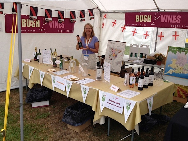 Emsworth Show 2019 with Bush Vines: taste and buy a glass of English Sparkling or still wines plus organic wnes from Spain. at great prices.