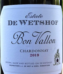 De Wetshof Bon Vallon Chardonnay awarded Top 10 Best Chardonnays in the World 2019 at international competition in Montepelier March 2019 - Best Chardonnay du Monde 2019. Delicious, unoaked, fantastic value. A wonderfully refined, unoaked and stunning Chardonnay at this price. Fantastic quality wine; terrific bargain.