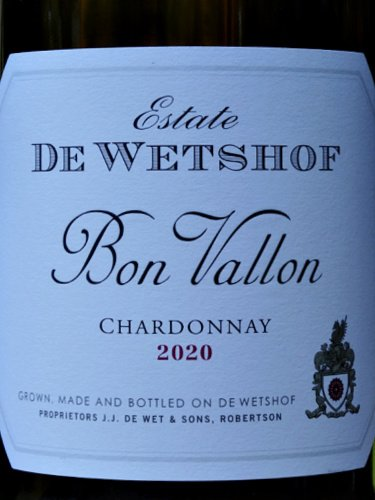Bon Vallon Chardonnay 202 is full, yet refreshing unoaked Chardonnay with bags of flavour. Consistently one of the best value Chardonnays from top South Africa producer De Wetshof.