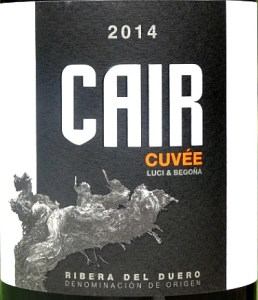 Cuvee de Cair 2014; amazing Ribera del Duero Roble; concentrated, complex, beautifully balanced, very long.