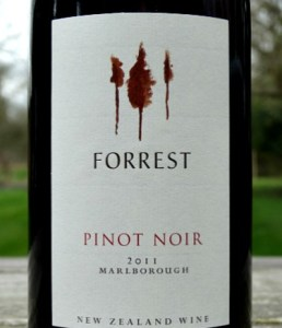 Forrest Pinot Noir 2011; Great value quality Marlborough Pinot Noir; delicious