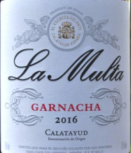 La Multa 2016/17 is a terrific garnacha made by Norrel Robertson MW in Calatayud in Aragon, Spain. Concentrated, full flavoured with great depth. Brilliant value.