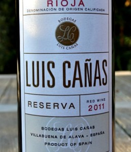 Luis Cañas Reserva 2011; outstanding Reserva from top Rioja producer at an amazing price from Bush Vines; complex, silky. elegant and beautifully balanced.