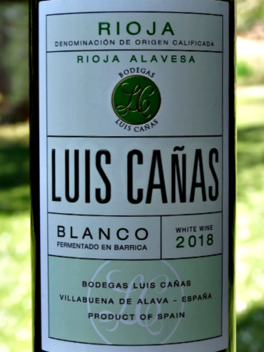 Luis Canas Barrel Fermented Blanco 2018; superbly balanced lightly oaked white Rioja from top produce. Consistently excellent white Rioja; smooth and packed with flavours. 91 points Tim Atkin MW