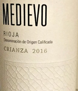 Medievo Crianza 2016 is a great value Crianza: Decanter highly recommended wine: Classic Rioja with generous black and red fruits and light vanilla oak touch