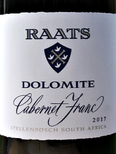 Raats Dolomite Cabernet Franc 2018; delicious succulent, spicy black fruited & stylish red, with great structure and depth. Very moreish. 92 points from Tim Atkin MW, this consistently good red from Bruwer Raats is another excellent South African Wine and excellent value.