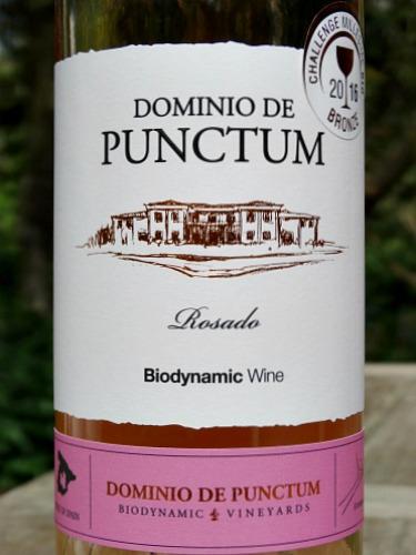 Dominio de Punctum Rosado 2017; stunning pale pink organic rose. Biodynamic and organic, dry, fruity rose; great value; award winning rosado from Spain