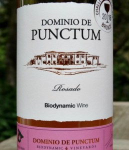 Dominio de Punctum Rosado 2017; stunning pale pink organic rose. Biodynamic and organic, dry, fruity rose; great value; award winning rosado from Spain