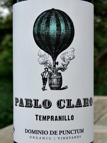Pablo Claro Tempranillo 2017; organic juicy red wine from Dominio de Punctum family run Estate Spain; fantastic value, terrific quality.