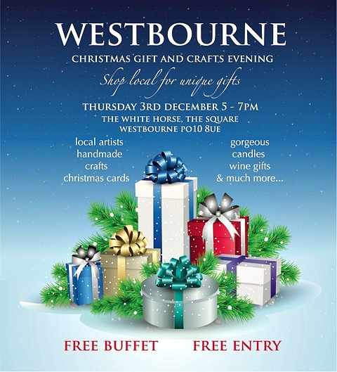 Westbourne Christmas Market 3 December 2015; great gifts from local businesses