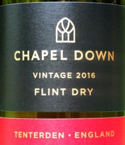 Chapel Down Flint Dry 2017; terrific vintage, aromatic dry white, bags of fruit. Flavours of nectarine and elderflower.; impressive long finish. Very good value English wine