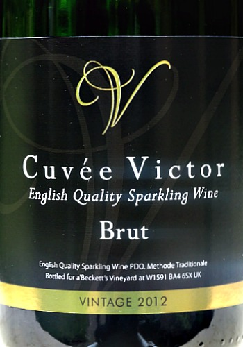 a'Becketts Cuvée Victor Brut 2012; Light, fresh dry English Sparkling Wine: limited introductory offer; snap us this bargain English wine from Wiltshire.
