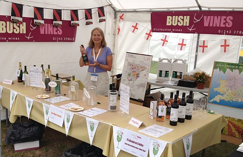 Bush Vines at Emsworth Show 2018; enjoy a stunning glass of wine from West Sussex or a terrific organic wine. Great local event 27 August; Bank Holiday Monday. Great family day out.