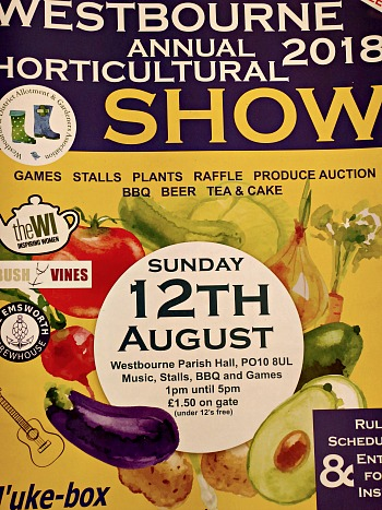 Westbourne Show 2018: come and see Bush Vines with English and Spanish Organic Wines