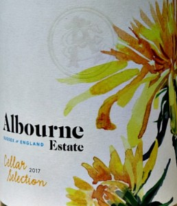 Albourne Estate Cellar Selection 2017; elegant, lightly rounded, dry white wine from West Sussex. Blend of barrel fermented Ortega and Chardonnay. Peach and tropical fruit flavours, smooth, honeyed notes but refreshing acidity too. Very long. Good food wine. Great value from Bush Vines. A Burgundy style white from Sussex.