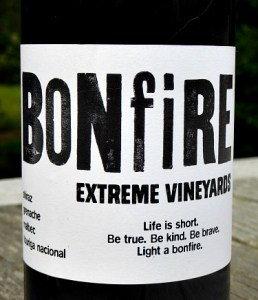 Bonfire Hill Red 2016 from Extreme Vineyards; rich, spicy red. Intriguing blend, good structure, creamy tannins, juicy black fruit. Made by Trizanne Barnard, one of South Africa star winemakers.
