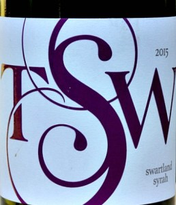 Trizanne Signature Wines (TSW) Syrah, refined, elegant, smooth; 91 points Tim Atkin MW; like at top end Rhone red; concentrated and succuclent without being heavy; a stunning, stylish and complex red from Swartland, South Africa.