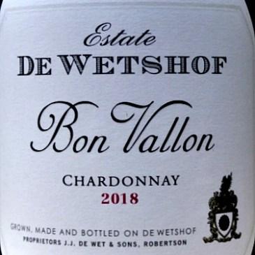 Bon Vallon Chardonnay 2018