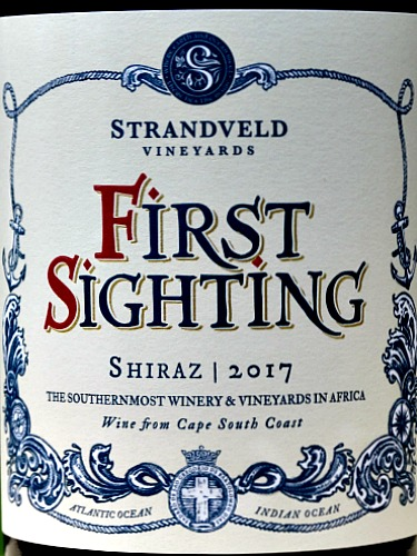 Strandveld First Sighting Shiraz 2017 is a classy, medium bodied red from cool climate Elim in South Africa. Fresh black fruit aromas with hints of black pepper and fynbos, lead into deliciously fresh, structured palate of black fruits. Small production from the Southern most tip of South Africa. Award-winning wines.