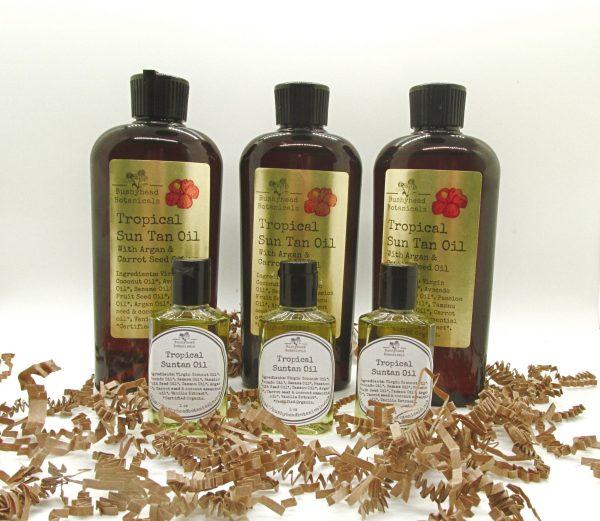 natural tropical suntan oil