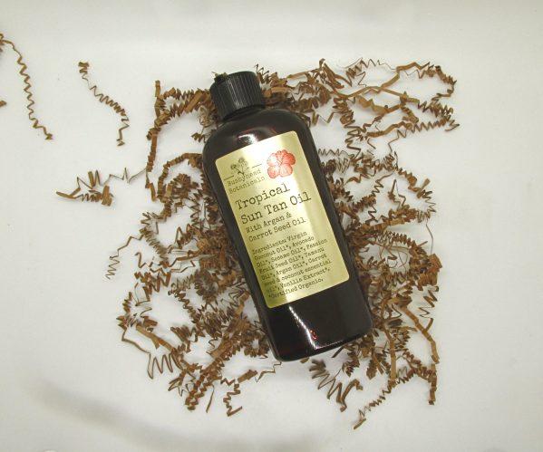 natural tropical suntan oil large