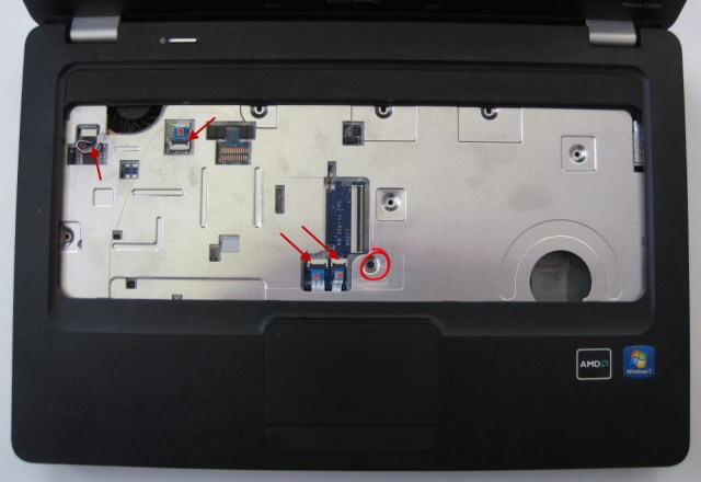 HP Compaq releasing top cover
