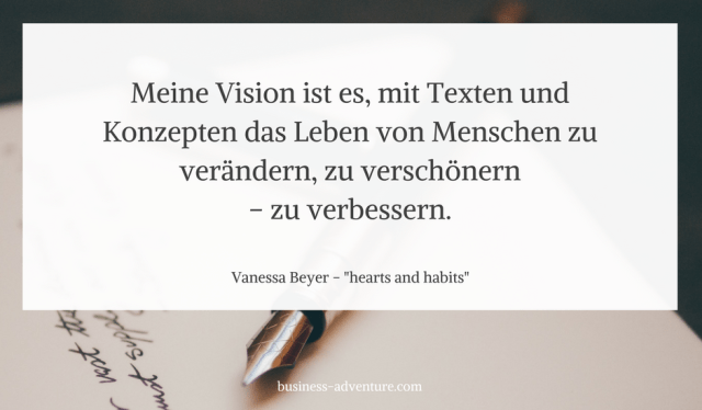 Zitat von Vanessa Beyer Business Adventure