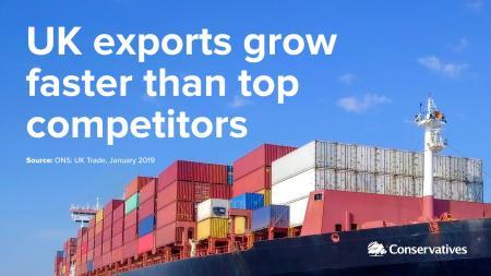 augmentation des exportations britanniques