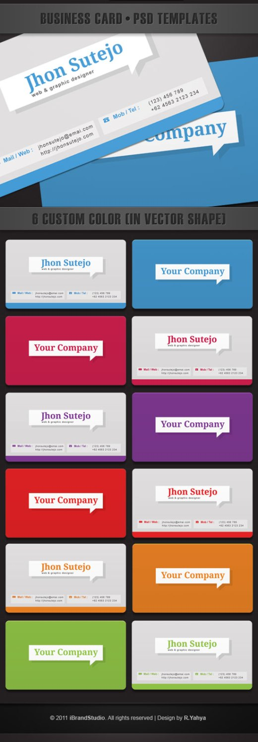 callout-business-card-template