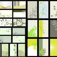 フローラル素材を背景に使用したナチュラルデザイン!32種名刺テンプレート(EPS)