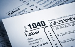 Financial IRS tax forms