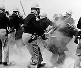 Alabama police attack Selma-to-Montgomery Marchers, 1965.