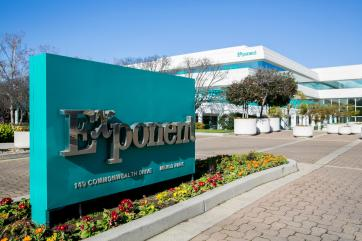 Exponent headquarters in Menlo Park, California. A publicly-traded science and engineering consulting firm, Exponent has offices in 20 U.S. cities and five foreign countries. (Kristopher Tripplaar/Alamy Stock Photo)