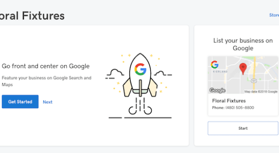 Standout tools: GoCentral Google My Business Listing feature